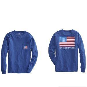 Vineyard Vines American Flag Pocket T-Shirt